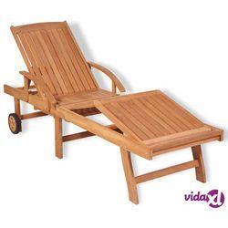 Vidaxl leżak, lite drewno tekowe
