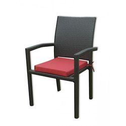 Krzesło ogrodowe z poduszką - sztuczny rattan