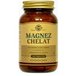 SOLGAR Magnez chelat aminokwasowy 100 Kapsułek, postać leku: tabletki