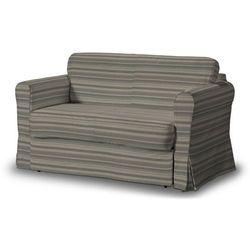 Dekoria Pokrowiec na sofę Hagalund, beżowo-brązowe pasy, Sofa Hagalund, Aspen, kolor brązowy