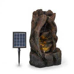 Blumfeldt Magic Tree, fontanna solarna, 2,8 W, tworzywo Polyresin, 5-godzinny czas pracy akumulatora, oświetlenie LED, imitacja drewna