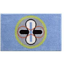 dywanik łazienkowy karim 01, niebieski, 70x120 cm marki Grund