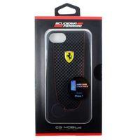 Ferrari Pit Stop Black Trim - Etui iPhone 7 (Black Carbon), FEPIHCP7BK