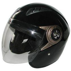 Kask motocyklowy MOTORQ Torq-o8 otwarty czarny połysk (rozmiar XS) + Zamów z DOSTAWĄ JUTRO!