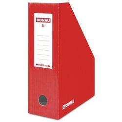Pojemnik na dokumenty DONAU, karton, A4/100mm, lakierowany, czerwony