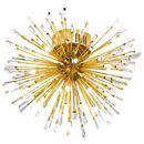 Plafon Eglo Vivaldo 1 39253 lampa sufitowa oprawa 19x1.2W G4 LED złoty / kryształ