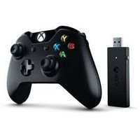 Gamepad Microsoft Xbox One +Wireless Adapter dla systemu Windows 10 (CWT-00003) Czarny