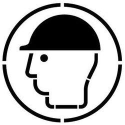Szabloneria Szablon do malowania znak nakaz używania ochrony głowy go014 - 85x85 cm