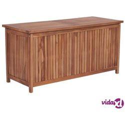 vidaXL Skrzynia ogrodowa, 120x50x58 cm, lite drewno tekowe