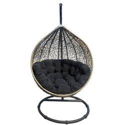 Huśtawka ogrodowa cocoon beżowy/czarny marki Miloo