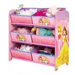 Regał z 6 pojemnikami, Disney Princess
