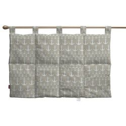 Dekoria wezgłowie na szelkach, kotwice beżowo-białe, 90 x 67 cm, marina