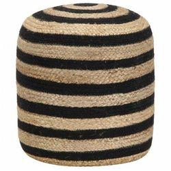 Okrągła pufa pleciona w paski - azalia 3x marki Elior