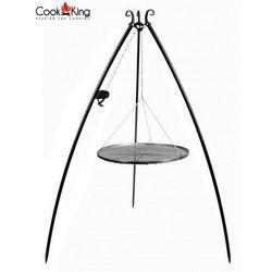 Cook&king Grill ogrodowy stal czarna z kołowrotkiem 70cm