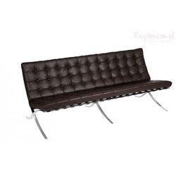 Sofa BA3 3 osobowa, brązowa skóra TP - sprawdź w wybranym sklepie