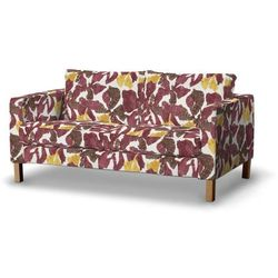 Dekoria Pokrowiec na sofę Karlstad 2-osobową nierozkładaną krótki, żółto-brązowe kwiaty, Sofa Karlstad 2-osobowa, Wyprzedaż do -30%