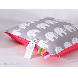 poduszka minky dwustronna 30x40 słoń szary / arbuzowy marki Mamo-tato