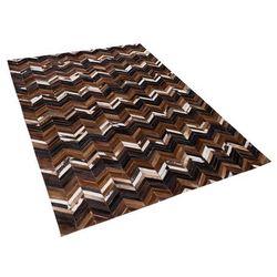 Dywan brązowy 160 x 230 cm skórzany BALAT (4260586354072)