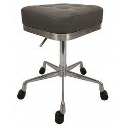 Krzesło taboret kosmetyczny fryzjerski hoker pufa Antracyt, kolor szary