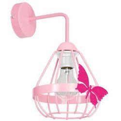 Milagro Kago MLP4926 kinkiet lampa dziecięca 1x60W E27 różowy