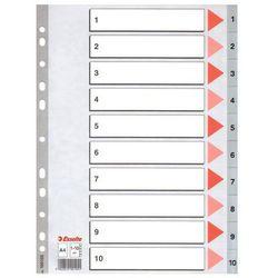 Przekładki ESSELTE PCV szare A4 1-5 100103, ES362