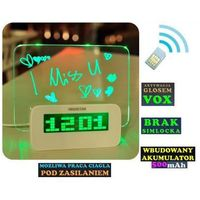 Spy Podsłuch otoczenia (zasięg cały świat!) ukryty w zegarku biurkowym + vox + powiadomienie o wejściu..