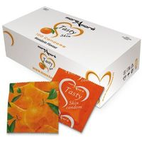 More amore Mandarynkowe prezerwatywy moreamore condom tasty skin mandarin 50 sztuk