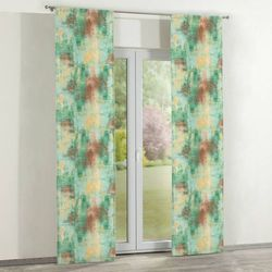 zasłony panelowe 2 szt., zielony, żółty, brązowy, 60 × 260 cm, urban jungle marki Dekoria