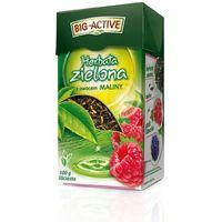 zielona z maliną 100g herbata liściasta marki Bio-active