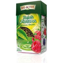 Bio-Active Zielona z Maliną 100g herbata liściasta (5905548350288)