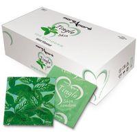 Miętowe prezerwatywy moreamore condom tasty skin mint 50 sztuk marki More amore