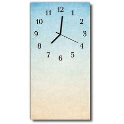 Zegar Szklany Pionowy Sztuka Niebo pastele niebieski, kolor niebieski