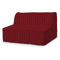 Dekoria Pokrowiec na sofę Lycksele prosty, szenilowe bordowe pasy, sofa Lycksele, Living