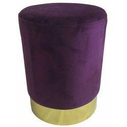 Pufa Delice Velvet M fioletowa - fioletowy ||złoty, kolor fioletowy
