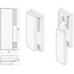 Aco Domofon wielolokatorski  cdnp6acc dla 4 lokatorów.