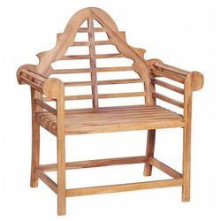 Drewniane krzesło ogrodowe niclos - brązowe marki Elior