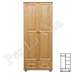 Szafa drewniana D2 Nr5 WIESZAK/PÓŁKI