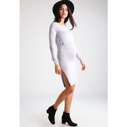 MAMALICIOUS MLCOSY Sukienka dzianinowa light grey melange, towar z kategorii: Sukienki ciążowe