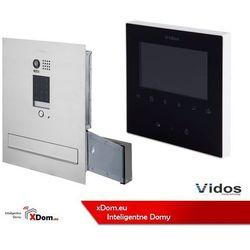 Vidos Zestaw cyfrowy s1401d-skm skrzynka na listy z wideodomofonem i czytnikiem kart, m1022b monitor 4.3'' wideodomofonu