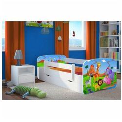 Dziecięce łóżko z szufladą Happy 2X mix 80x180 - białe, Kocot-łóżko-babydreams-białe-safari