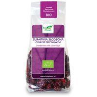 : żurawina słodzona cukrem trzcinowym bio - 100 g marki Bio planet