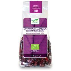 : żurawina słodzona cukrem trzcinowym bio - 100 g od producenta Bio planet