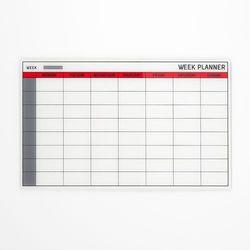 Szklana tablica planu tygodniowego wym. 780x480mm marki Aj