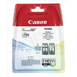 CANON Tusz PG-510/CL-511=PG510/CL511=2970B010, Zestaw Bk+Kolor, PG-510+CL-511- wysyłka dziś do godz.18:30. w