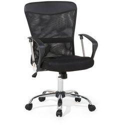 Beliani Krzesło biurowe czarne - meble biurowe - fotel komputerowy - boss (7105279795749)