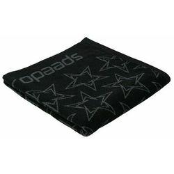 Speedo boomstar allover ręcznik, jet black/oxid grey 2020 ręczniki i szlafroki sportowe (5053744474236)