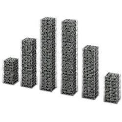 Vidaxl kosze gabionowe z ocynkowanego drutu stalowego, różne wymiary 6 szt. (8718475875635)