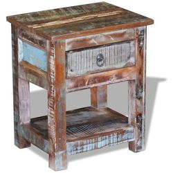 vidaXL Stolik boczny, szafka z 1 szufladą drewna odzyskanego 43x33x51 cm (8718475524083)