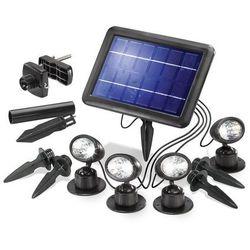 Lampa zewnętrzna solarna Esotec 102142, 4x0.25 W, LED wbudowany na stałe, 40 lm, 6000 K, IP44, (DxS) 21 cm x