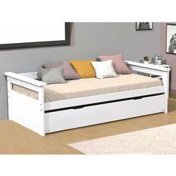 Kanapa z wysuwanym łóżkiem alfonso - 90 × 190 cm - biały świerk marki Vente-unique